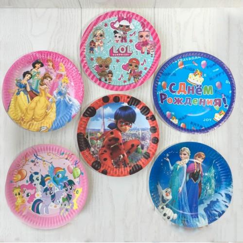 Тарелки для детского праздника в ассортименте
