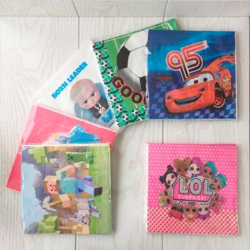 Салфетки для детского праздника